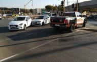 Collision at intersection in Pretoria