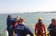 Police divers in Search and Rescue in the channel near Wilson's Wharf, Durban