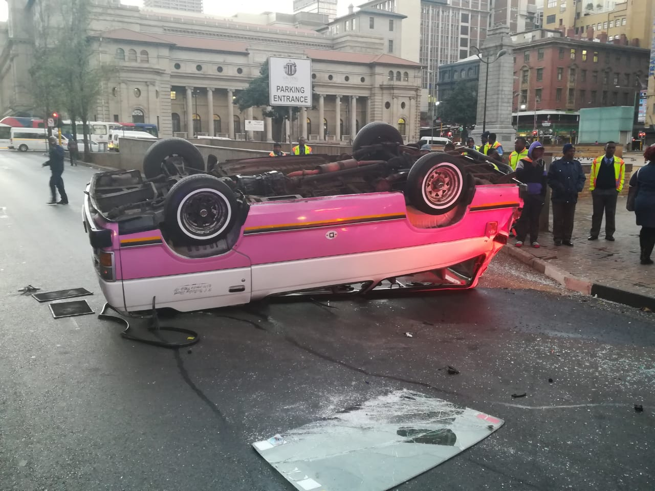 Multiple injured in a taxi collision in Johannesburg CBD