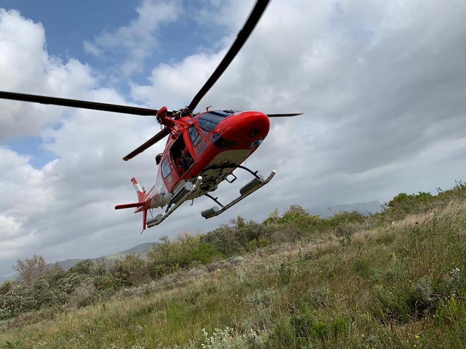 Hiker injured after sustaining injury in the Helderberg Nature Reserve.