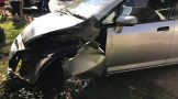 One injured in a single-vehicle collision in Bryanston