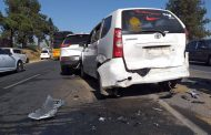 Fortunate escape from injury after multiple vehicle crash in Fourways
