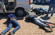 One suspect shot and killed and four suspects arrested after police reacted swiftly to a business robbery at a jewellery shop