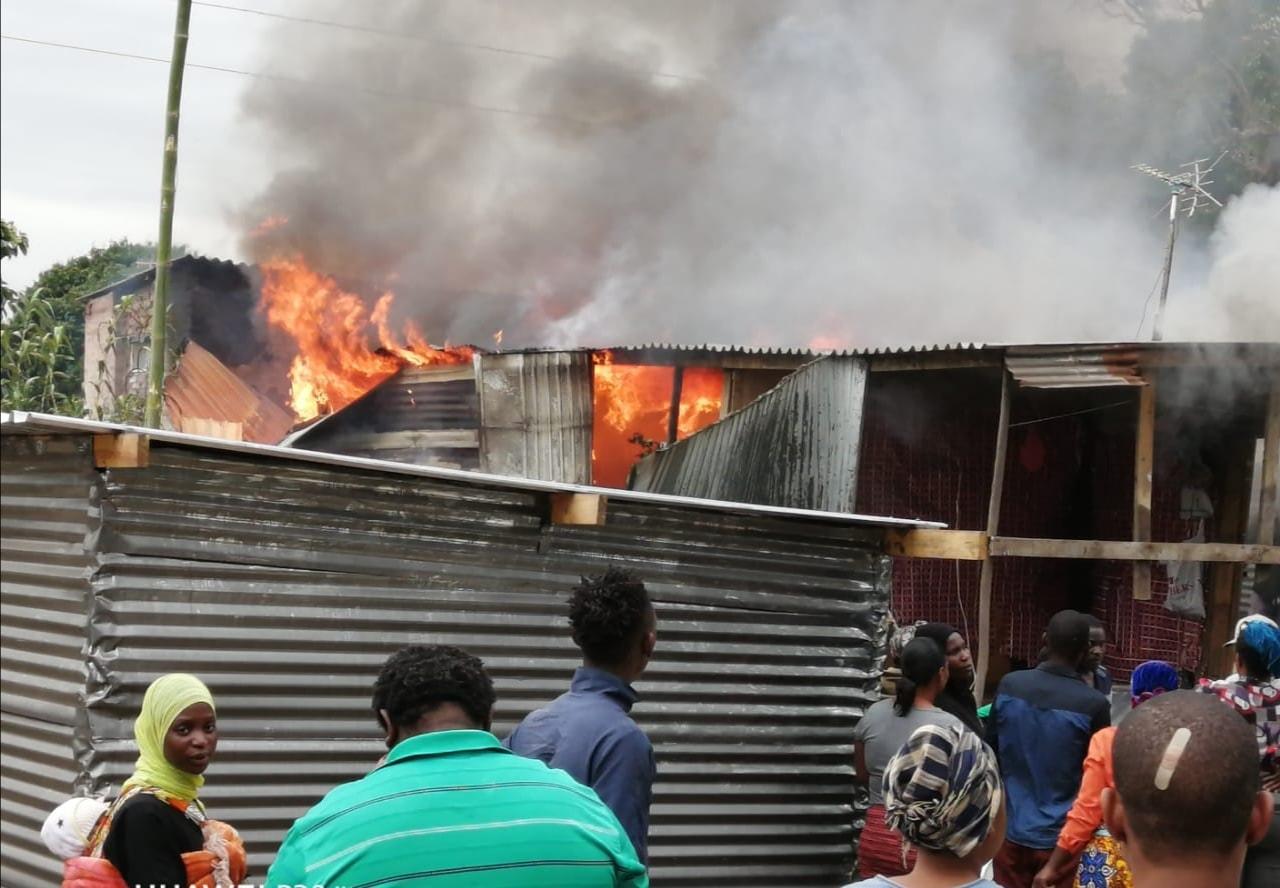 Informal homes destroyed in fire in Canelands