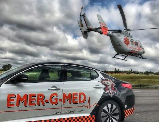 Three injured in R76 collision