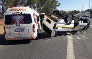 Several injured in taxi rollover in Sandton