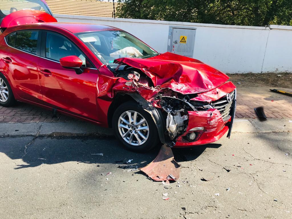 Collision involving four vehicles in Randburg