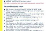 SAPS offer advice for Safety on Trains
