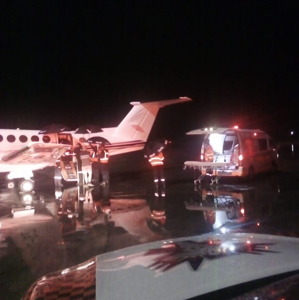 Patient evacuated from Mozambique to Kruger Mpumalanga International (KMI) Airport