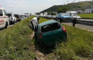 Three men were injured in a double rollover on the N2 Northbound near the Kwa-Mashu interchange