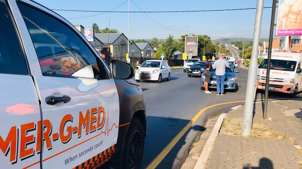 Two injured in a collision in Randburg