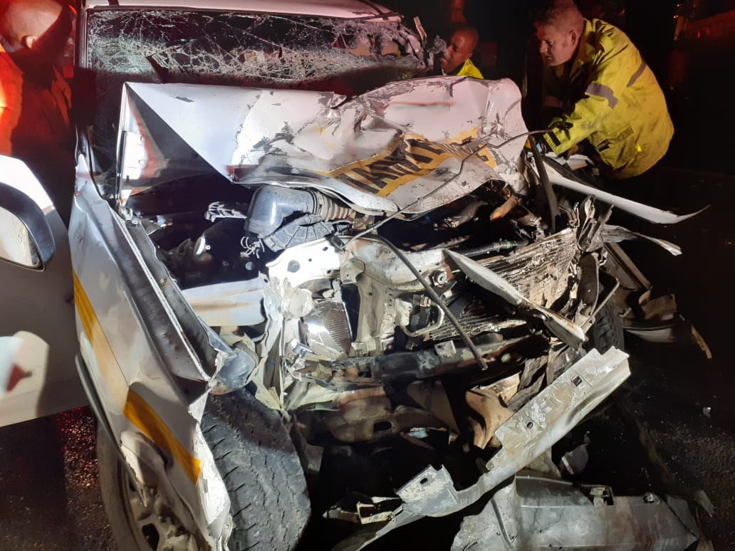 Three seriously injured in a collision on the N3