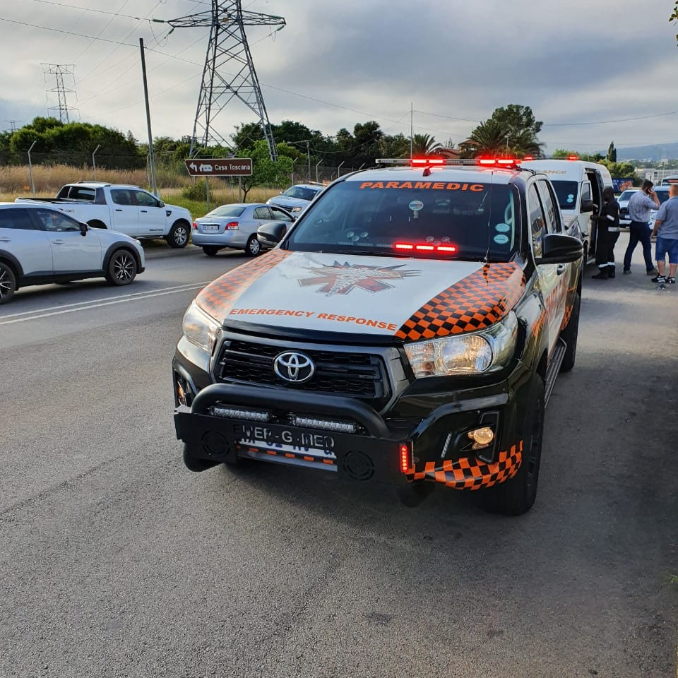 One injured in a motorcycle collision in Pretoria East