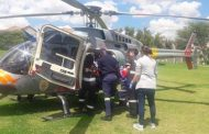 Man airlifted after falling 1.2 metres to the ground from a ladder