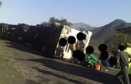 Truck rollover on the Hoedspruit side at the Strydom tunnel