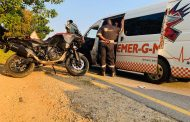 One injured in a motorcycle collision in Fourways