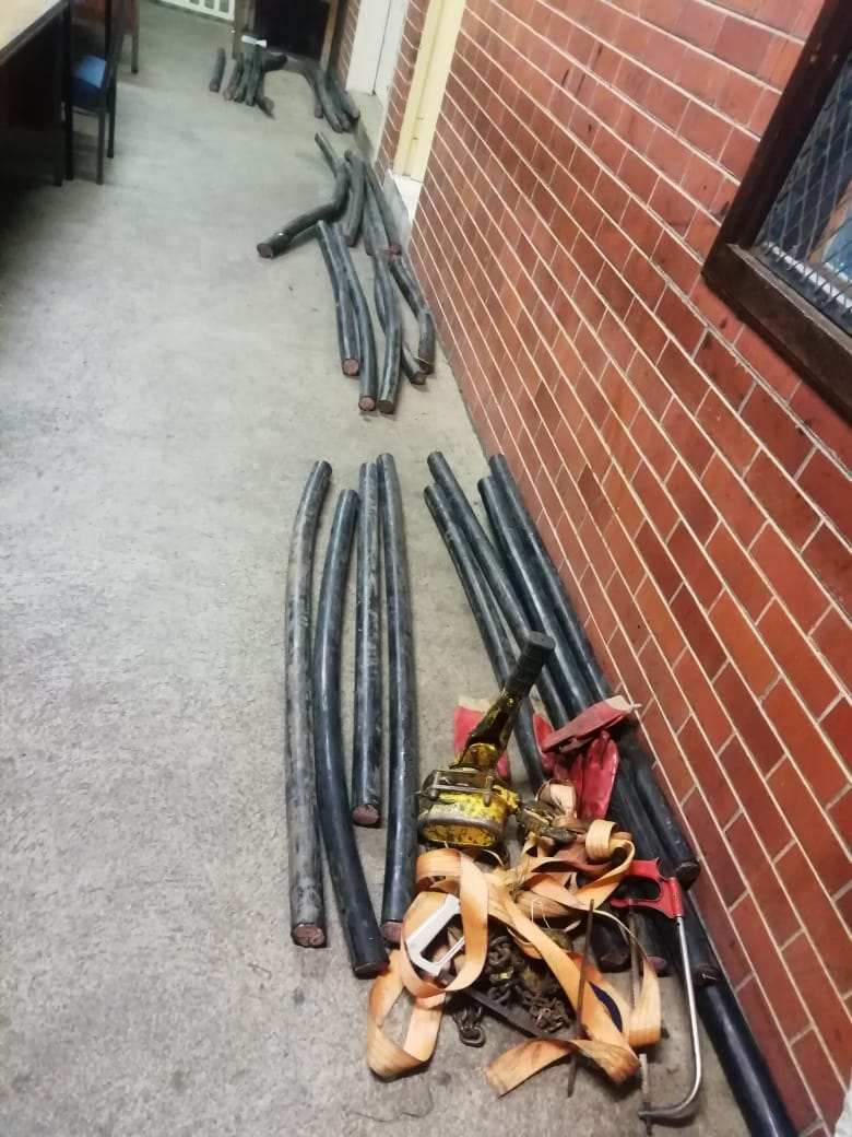 Suspects arrested for possession of stolen copper cables in Durban