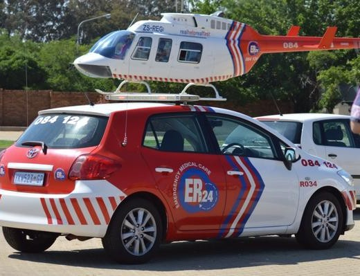 Man airlifted after falling two storeys in Clayville