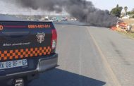 Fortunate escape from injury in vehicle fire in Edleen