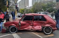 Two-vehicle collision in Parktown