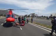 Cyclist airlifted after a collision on Ou Kaapse Weg
