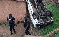 Overturned Taxi Lands On House in Waterloo in KZN