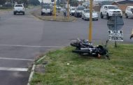 Motorcycle collision in Edenvale