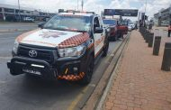 Multiple vehicle collision in Boksburg