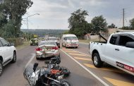 Two injured in a collision between a vehicle and motorcycle in Pretoria